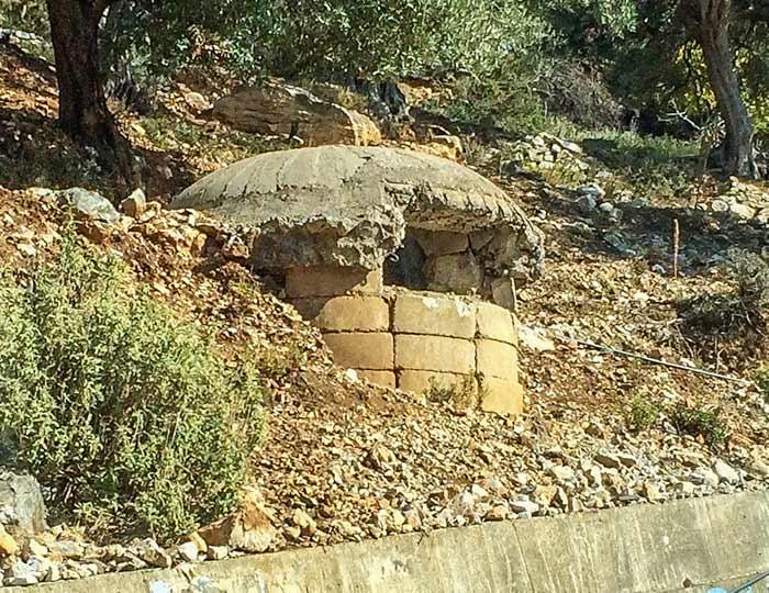 Concrete bunker by the roadside