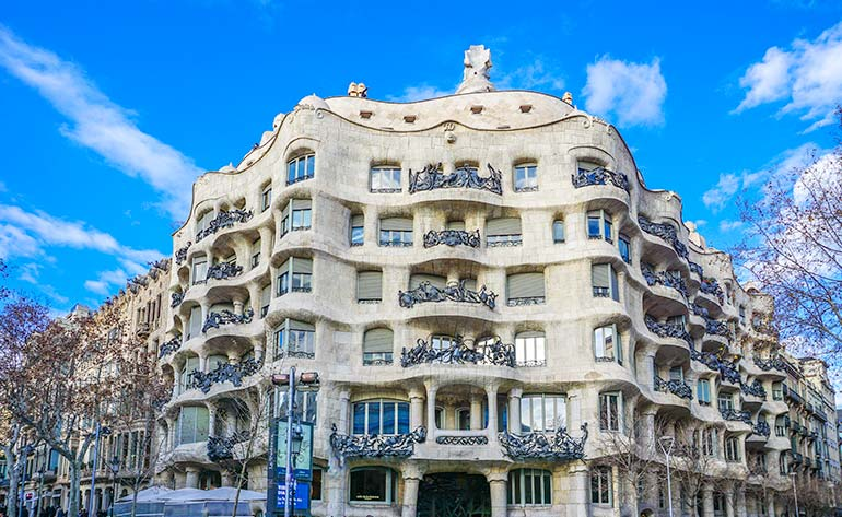 Barcelona Gaudi bulding
