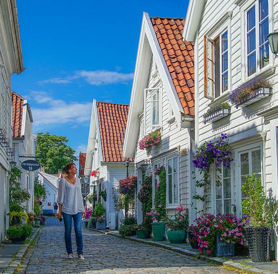 Strolling colourful Stavanger, Norway 2 week itinerary