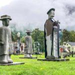 Park of concrete human figures
