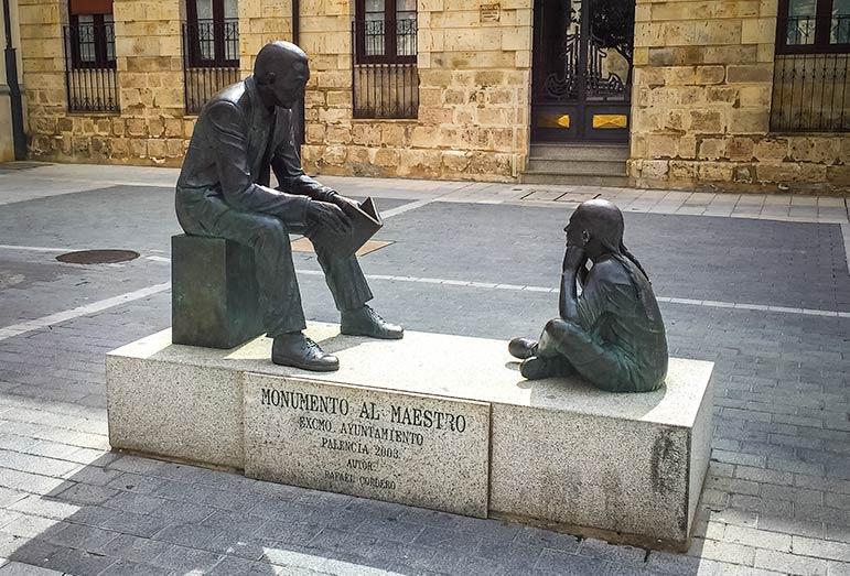 Palencia Monument of maestro