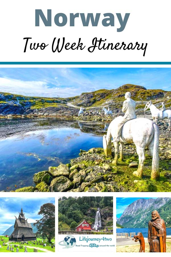 Norway 2 week Itinerary Pinterest pin 1