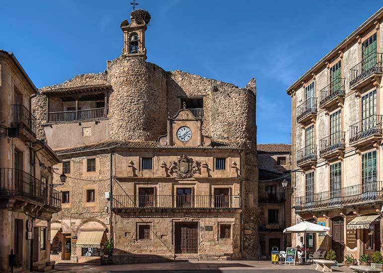 Main square of Sepulveda, Spain