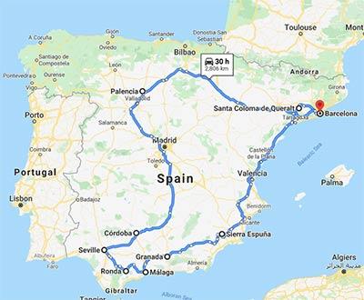 Spain Road Trip Option 3
