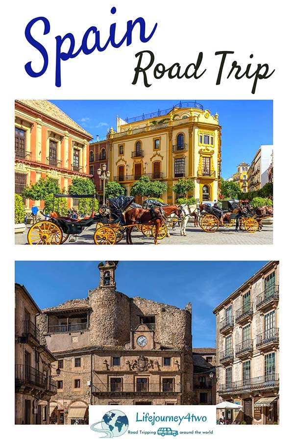 Spain road trip pinterest pin