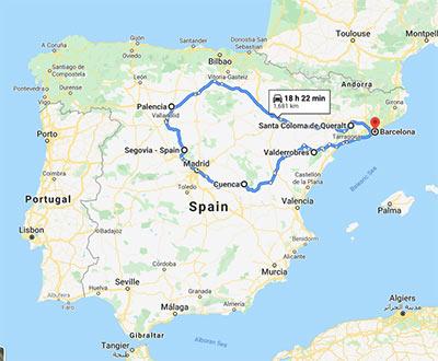 Spain Road trip option 1