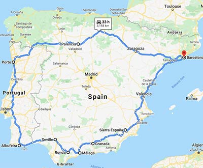 Spain road trip Option 4