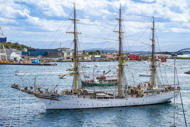 Tall ships at Stavanger, Norway 2 week itinerary