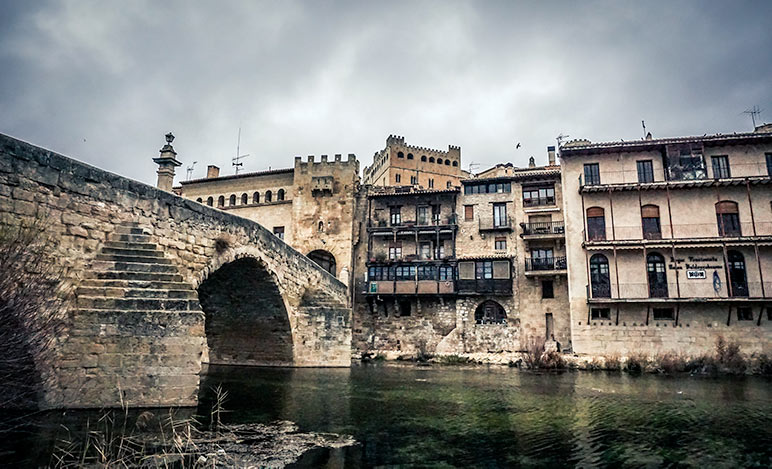 Valderrobres, Spain medieval bridge to the town