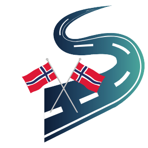 road and norwegian flag
