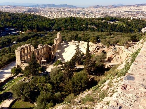 Acropolis-view over Athens