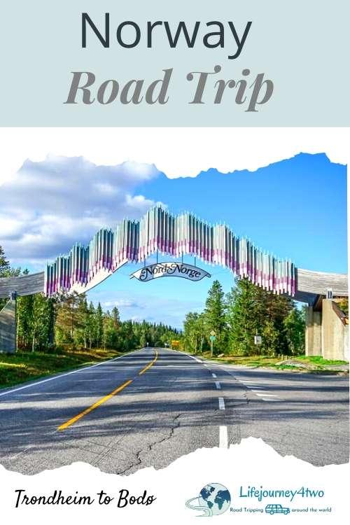 Trondheim to Bodo Road trip pinterest pin