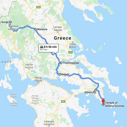Campervan Greece Map 3