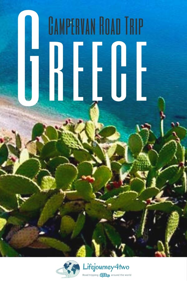 Campervan Greece Road trip pinterest pin
