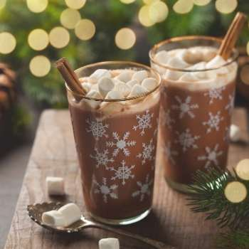 Christmas in July Hot chocolates