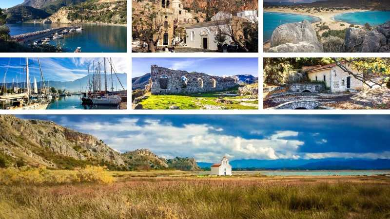 Combination of photos of the Peloponnese