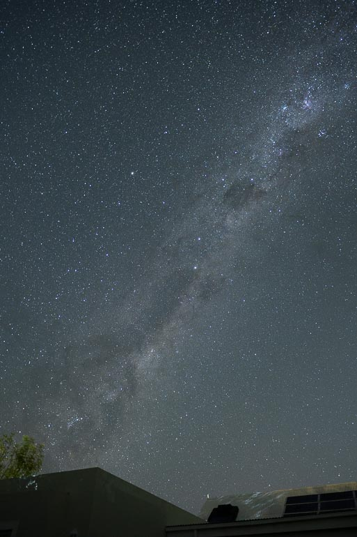 milky way image prior to processing