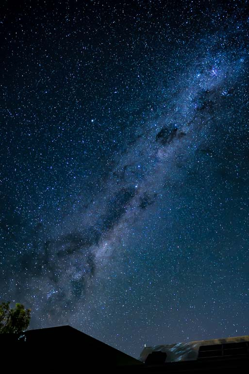 milky way image after to processing
