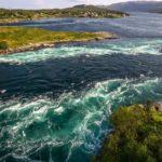 Green fast flowing waters of Saltstraumen