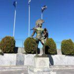 Spartan soldier statue in Sparta