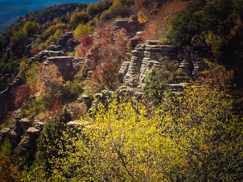 Stone-forest-greece - multii-layered rock formations that resemble trees