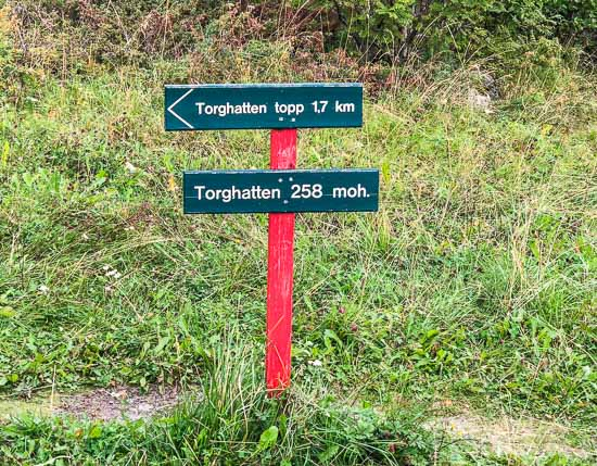 Torghattan hiking sign