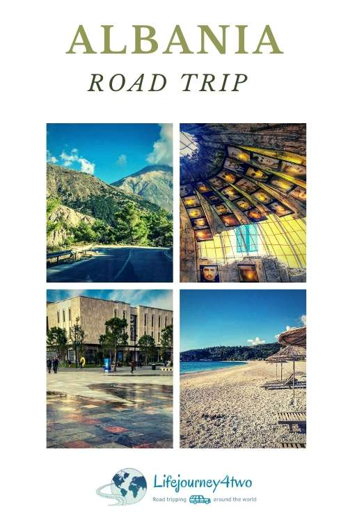 Albania Road Trip Pinterest pin