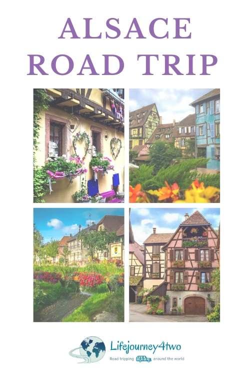 Road Trip Alsace Pinterest pin