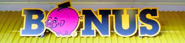 Bónus supermarket emblem of a piggy bank