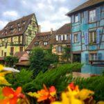 Colmar pastel colour timber houses