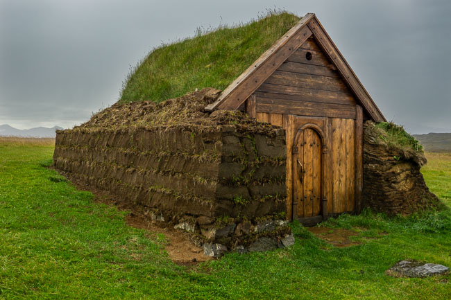new build turf church in Iceland