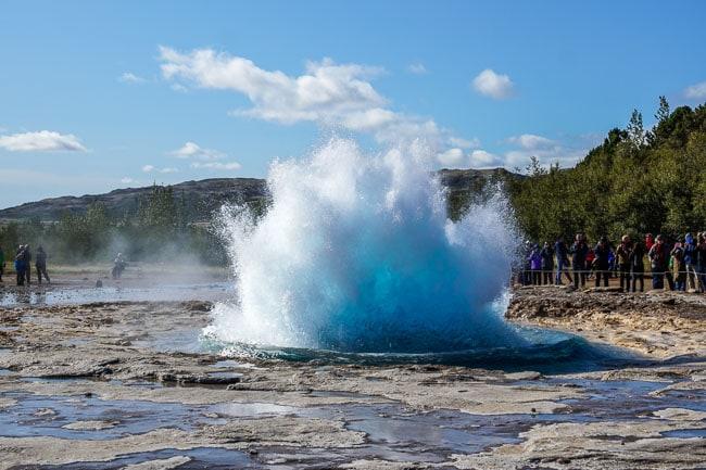Geysir erupting_Iceland in September