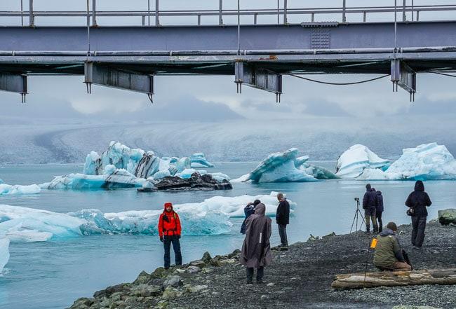 glacier lagoon with a glacier in the background