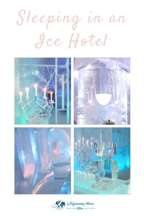 No icehotel in Iceland pinterest pin