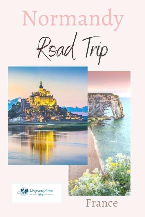 Normandy Road Trip Pinterest pin