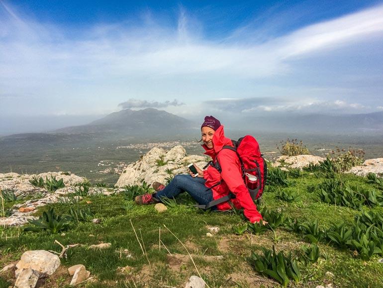 castro romano mountain in the Peloponnese
