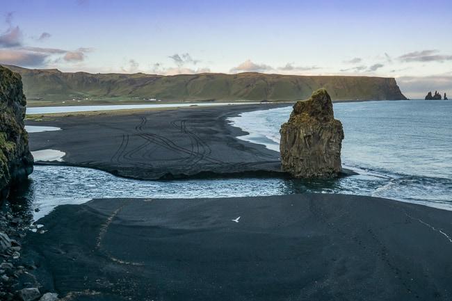 Reynisfjara black lava sand beach, iceland