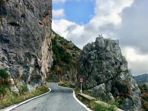 Road near Dimitsana in Greece
