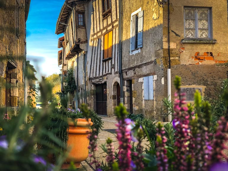St. Jean de Cole Village with half-timbered house