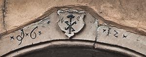 door lintel in Eguisheim