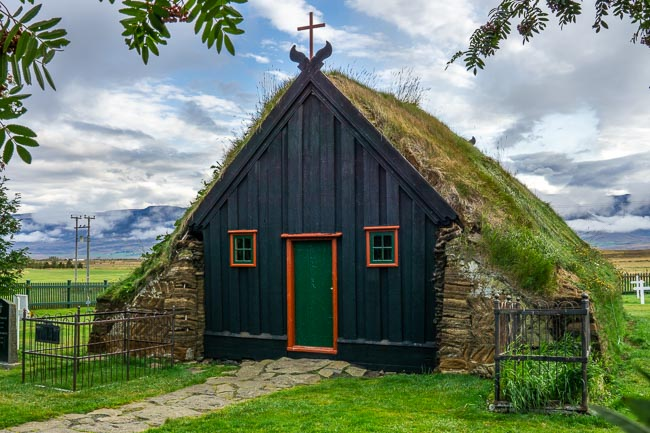green turf church in Iceland