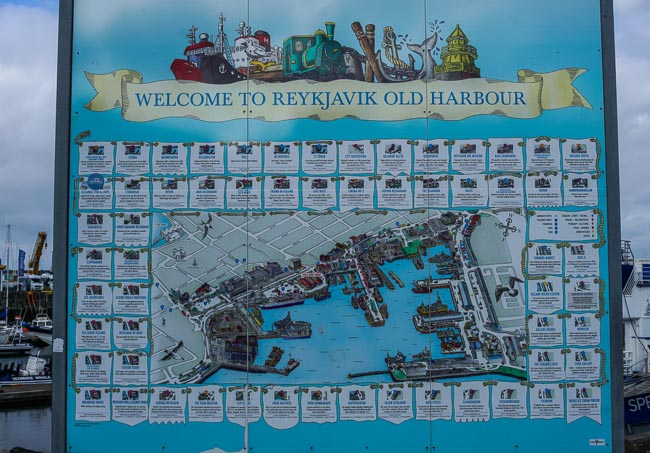 old harbour map, Iceland