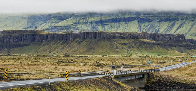 one land bridge in Iceland