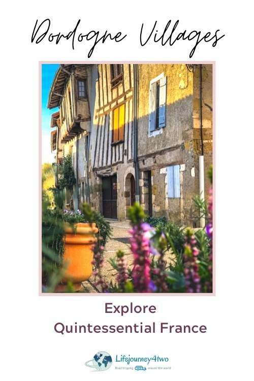 Dordogne Villages pinterest pin