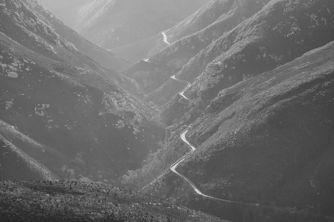 Montagu Pass seen from above