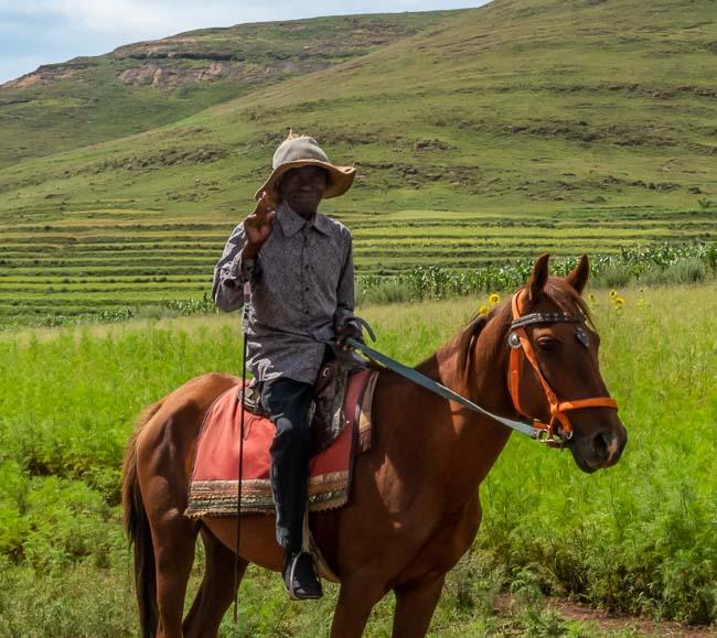 happy Basuto horse rider