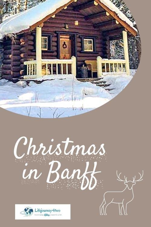 Christmas in Banff Pinterest pin