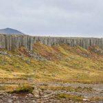 clilff of basalt columns, ICeland