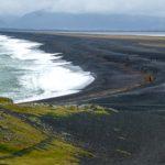 black lava sand beach, Hvalnes beach, iceland