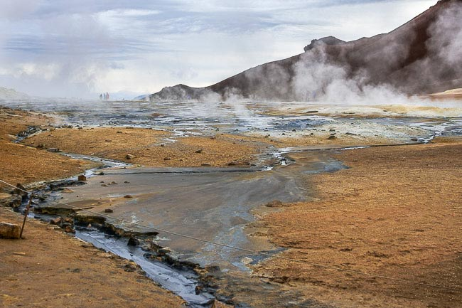 Steam off the boiling mud in Iceland